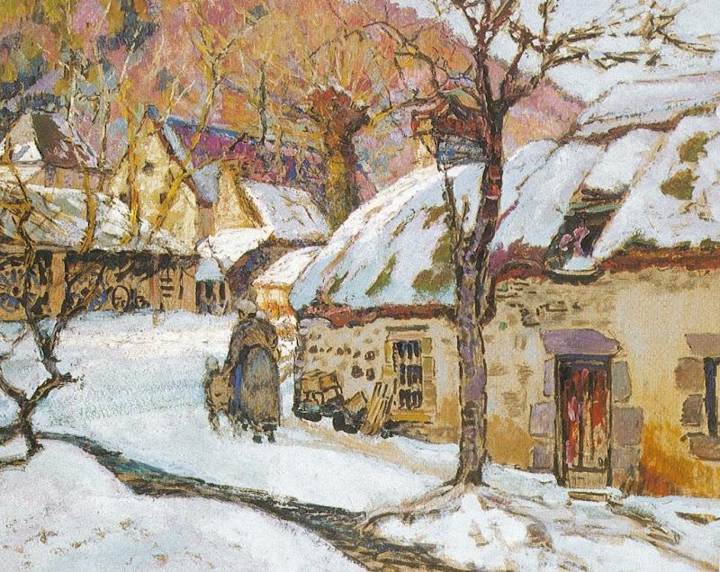 Victor Charreton - Neige aux environs de Murols