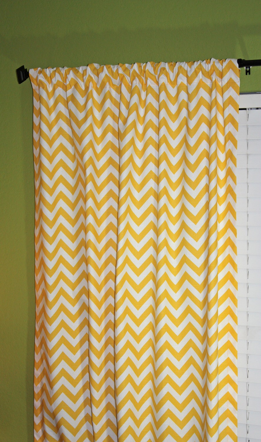 Penny Pinching Design: Turquoise Chevron Curtains