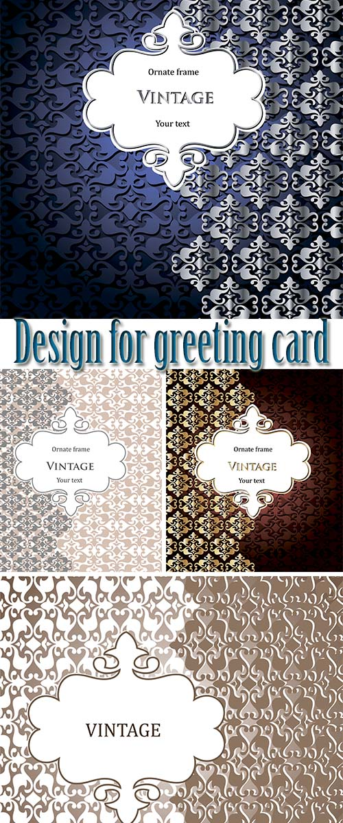 Stock: Design for greeting card 7