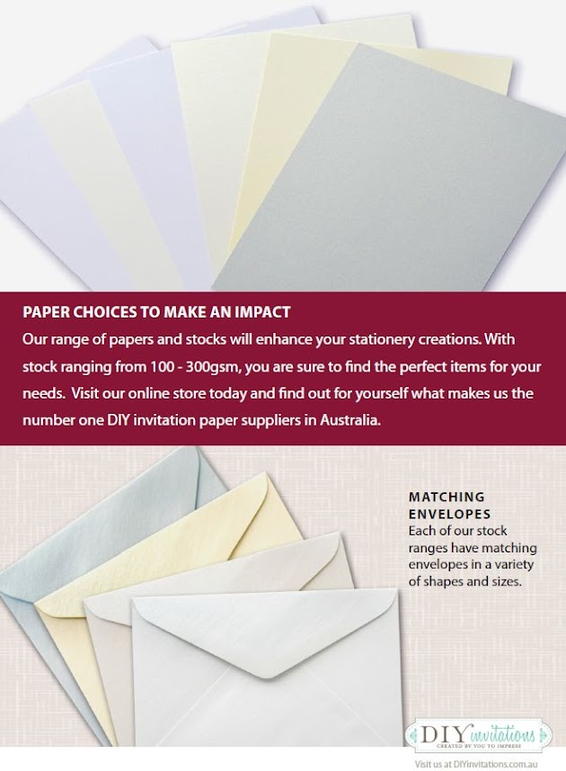 DIY Wedding Invitations Paper, Card Stock, and Envelopes