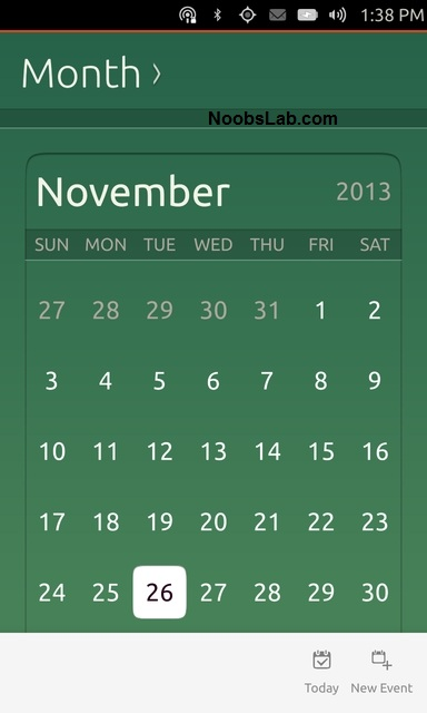 Ubuntu Touch calendar
