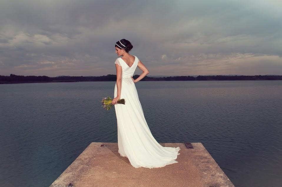 Vestido de Novia en el mar