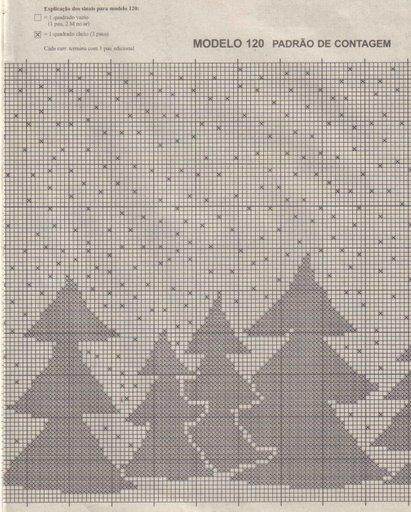 cortinas tejidas navideñas An13