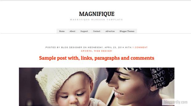 Magnifique Snipe Blogger template