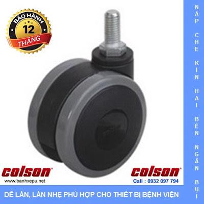 Bánh xe đôi trục ren CGT Colson Caster Mỹ phi 75 | CGT7554