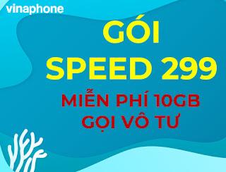 Nhận Miễn phí 10GB, 30 phút gọi nội mạng, 30 SMS gói Speed299 Vinaphone