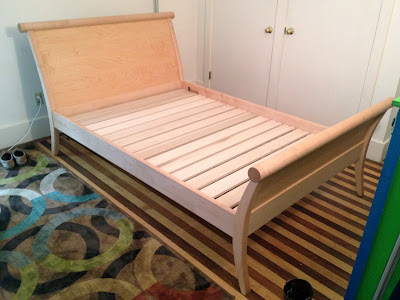 Slats hold the mattress