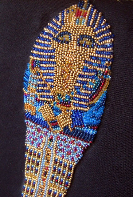 Bead Embroidered Sarcophagus Portrait