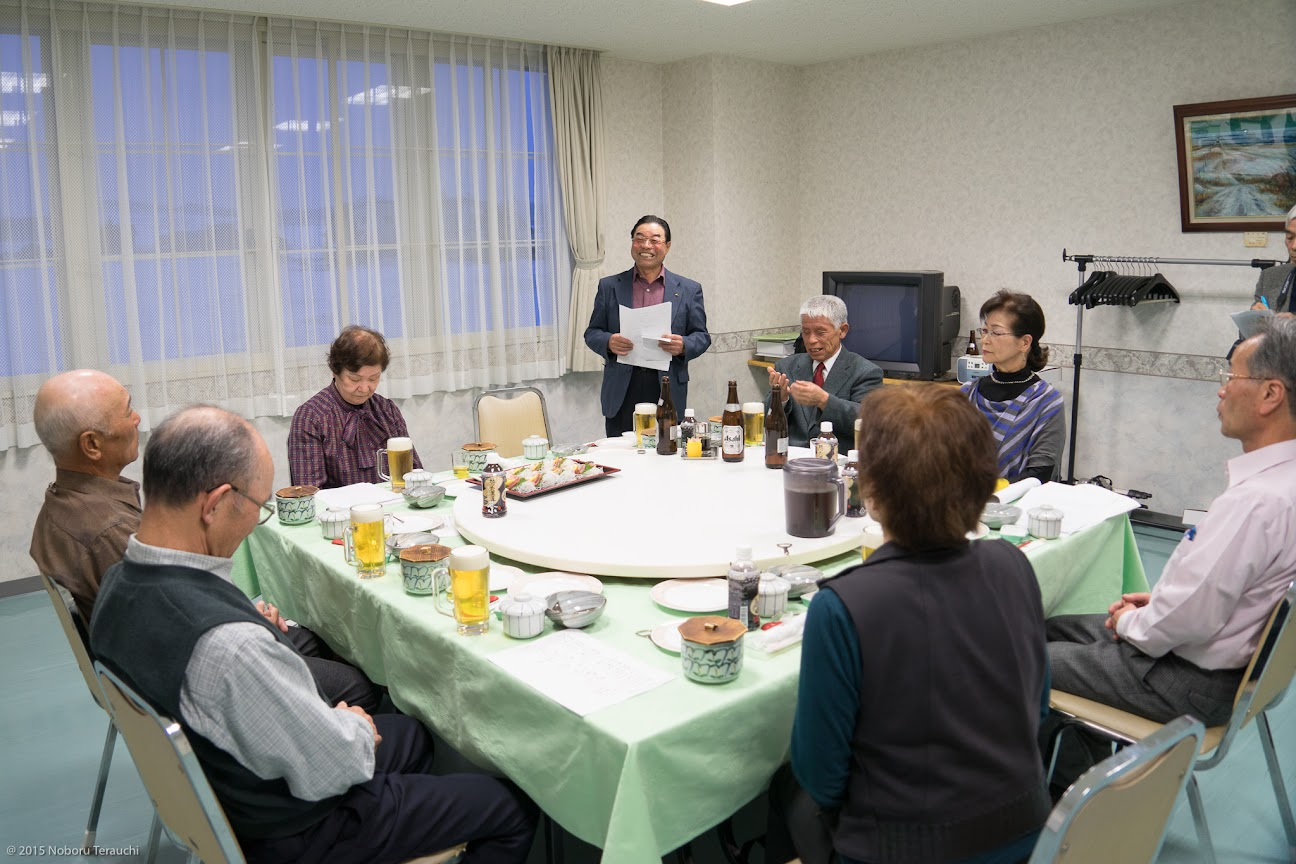 幹事・永井捷弘さんより今回の同窓会の経過報告
