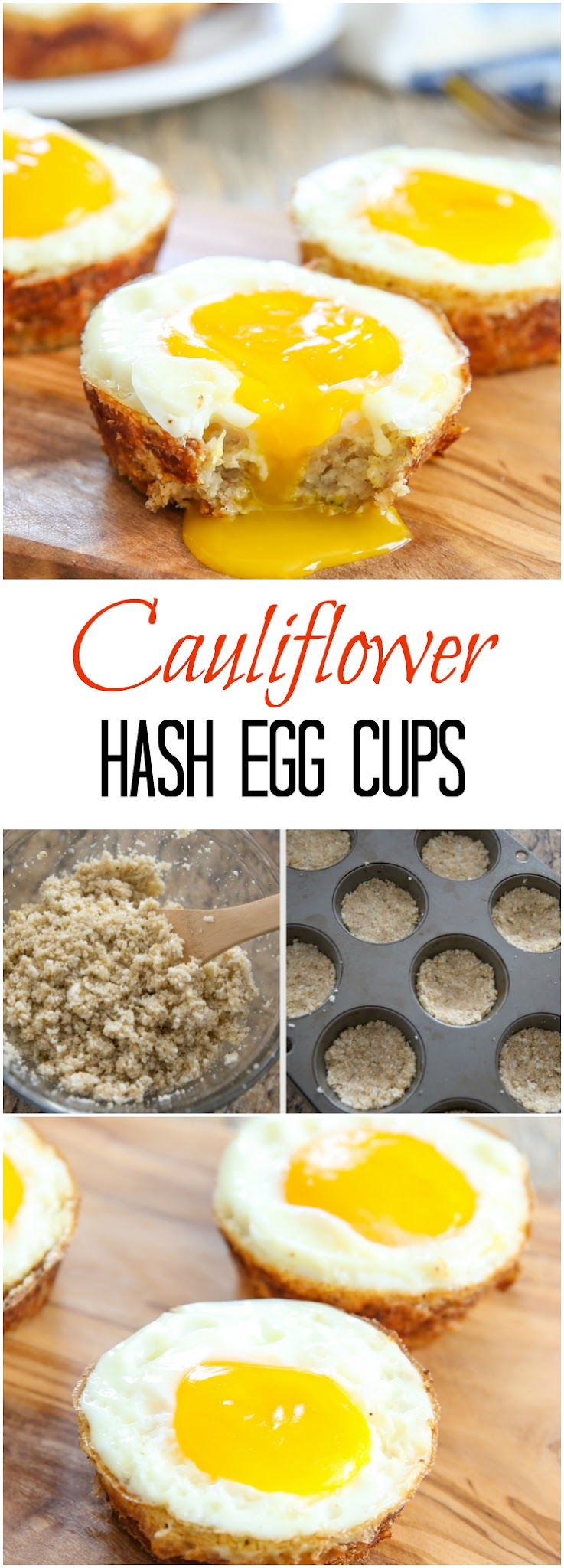 Cauliflower Hash Egg Cups photo collage
