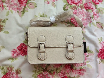 forever 21 cream satchel