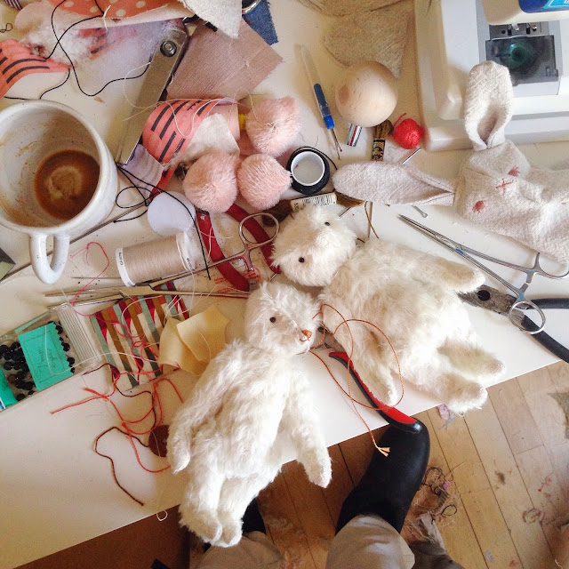 sewing table heritage mohair teddy bears