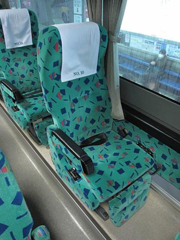 道北バス「流氷もんべつ号」 1026 シート