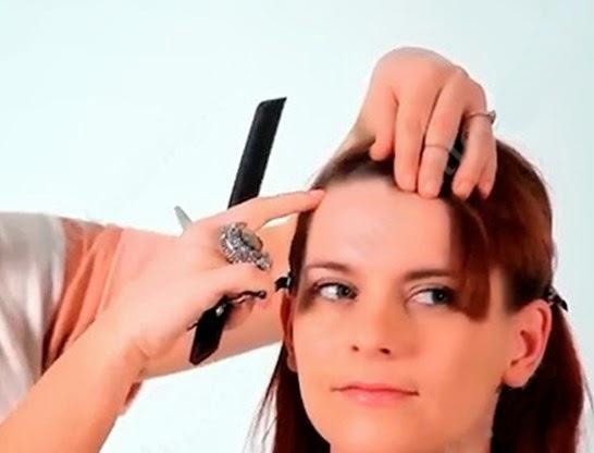 Day cat toc nu co ban huong dan cat toc mai 9 Dạy cắt tóc nữ cơ bản, Hướng dẫn cắt tóc mái