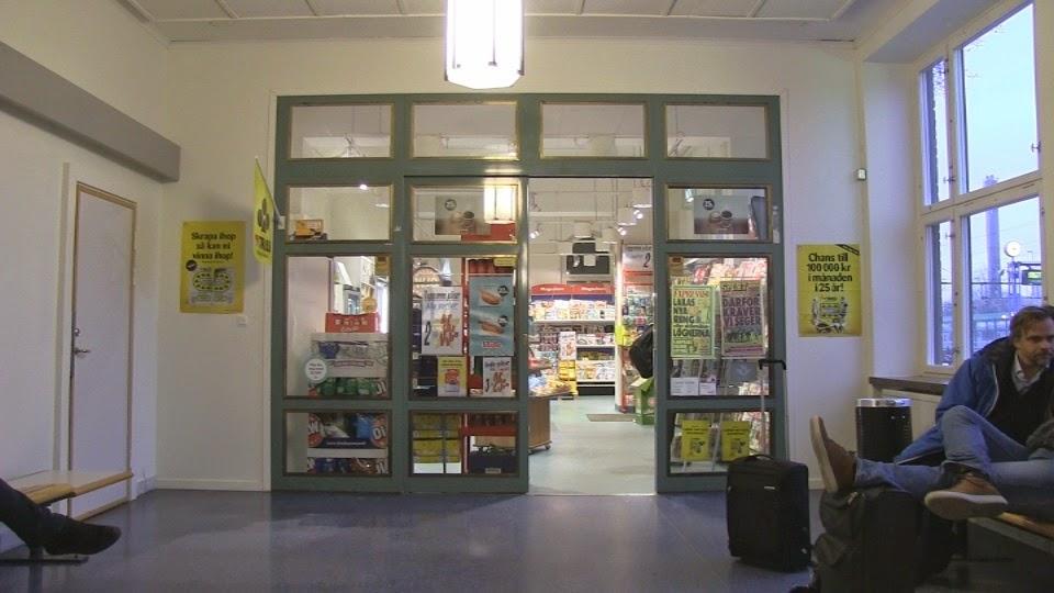 Kiosken som numera säljer biljetter