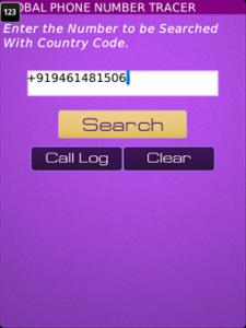 Global Phone Number Tracer v1.0.1 for BlackBerry