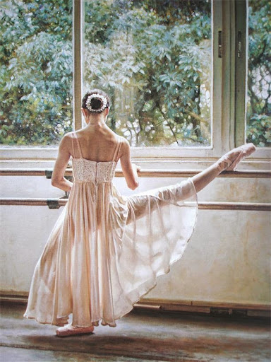 home decoatrion art Ballet painting printed oil paintin