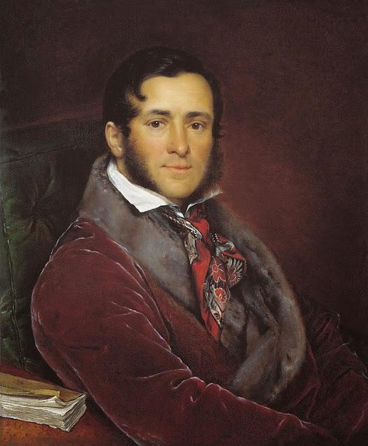 Vasily Tropinin - Portrait of Semyon Nikolayevich Mosolov