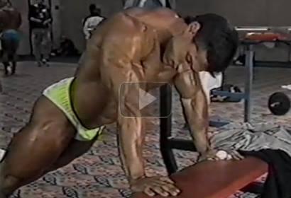 Bodybuilders Warm Up