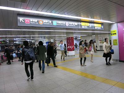 新しくなった渋谷駅の地下コンコース