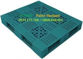 Pallet nhựa Thái Lan 2 mặt lưới