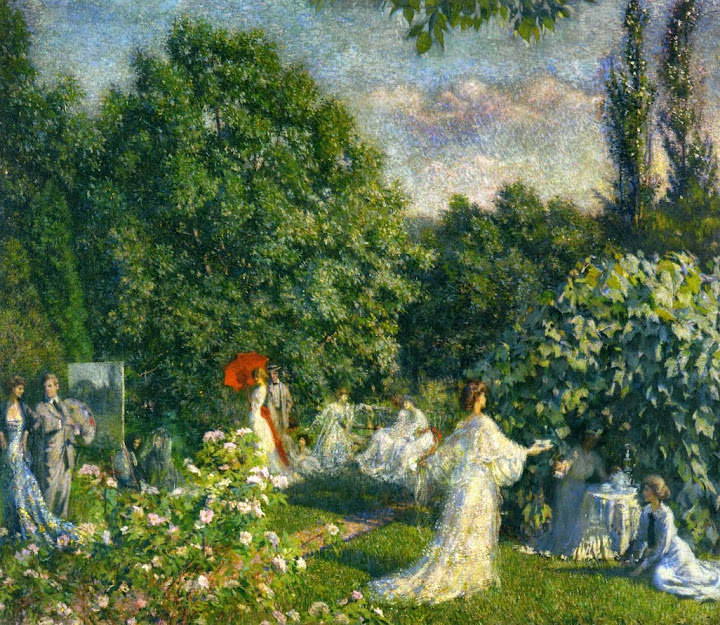 Philip Leslie Hale - The garden party