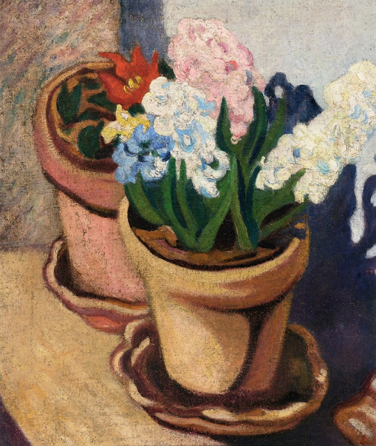 Louis Valtat - Two Flower Pots, Cactus Flowers and Hyacynths