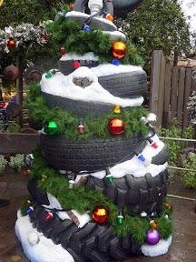 Disney  California Adventure Park decorations holiday Christmas Carsland