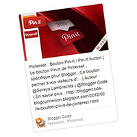 Blogger Code - Pinterest : Widget épingle embarquée [Embed pin]