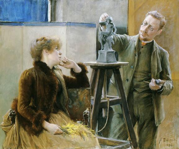 Albert Edelfelt - Kuvanveistäjä Ville Vallgren ja hänen puolisonsa taiteilija Antoinette Råström