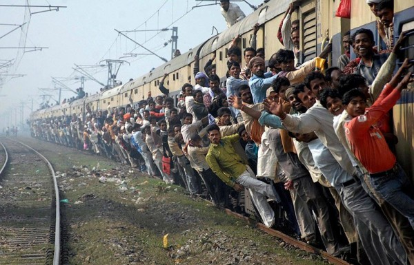 Meanwhile In India : Overcrowded Train