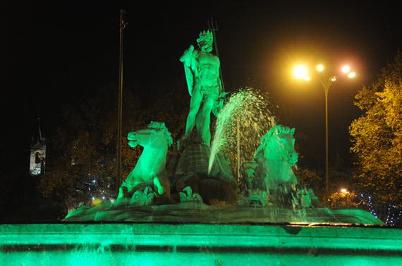 Iluminación LED para las fuentes de Neptuno, Atocha y el monumento a Isabel la Católica