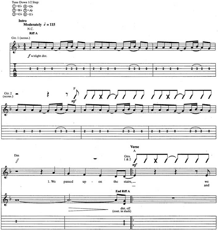Nirvana The Man Who Sold the World pdf guitar tabs