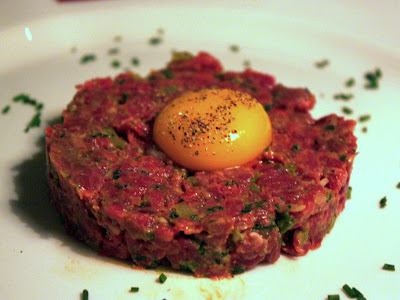Steak tartar at Brasserie Blanc