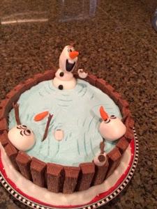 Cats Cake Creations Olaf Kit Kat Hot Tub Cake