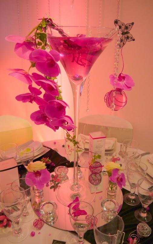 Centre de table Vase Martini - Salon du mariage et du pacs décorateur