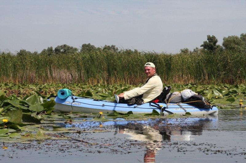 stuf Delta Dunării caiac padelă Vali apă