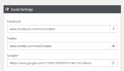 Add social media links to your marketing emails
