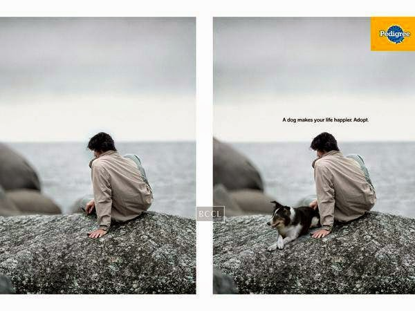 Pedigree's 'A dog makes your life happier. Adopt' touches you emotionally.