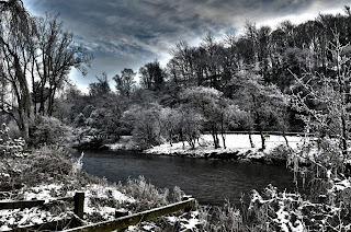 Rothbury, the River Coquet in Winter