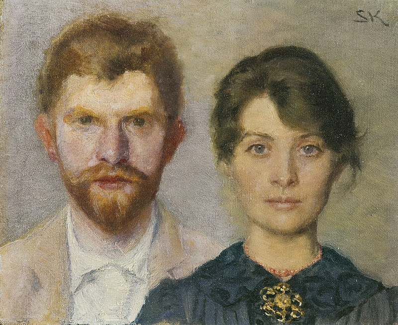 Peder Severin Krøyer - Double-portrait of Marie and P.S. Krøyer.