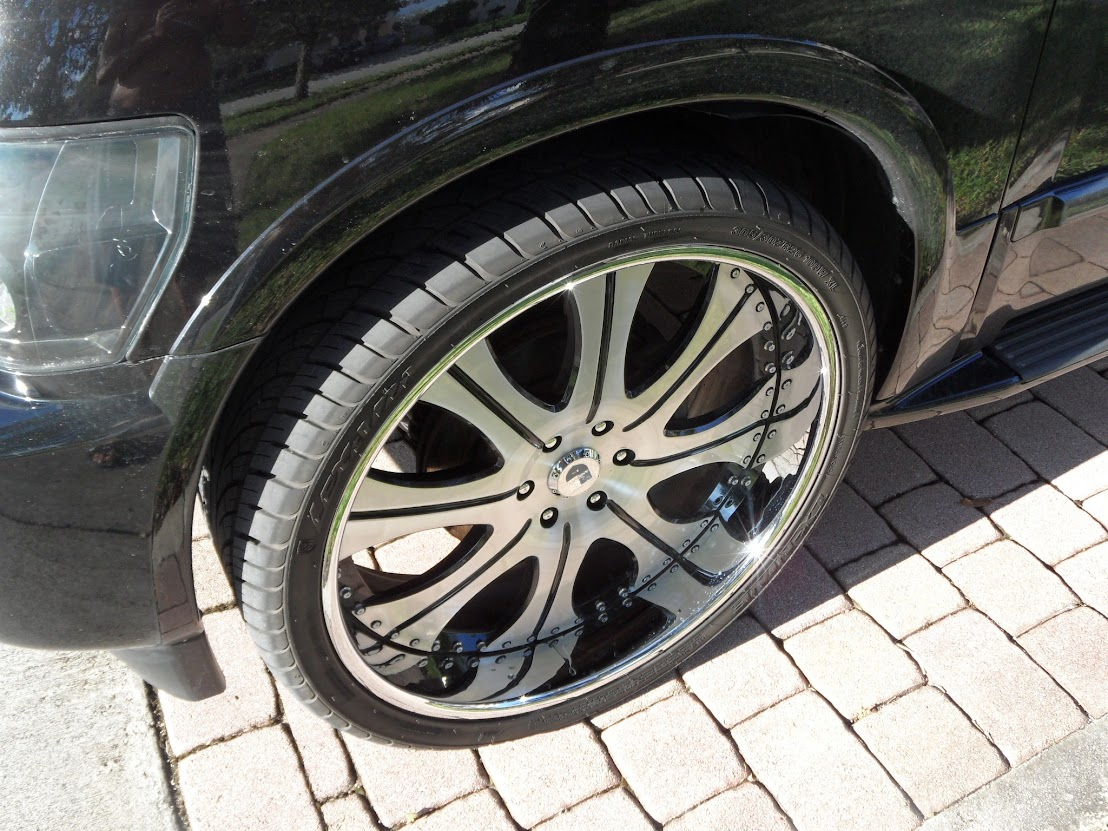 """26"""" asanti AF131 Rims Wheels Tires QX56 Armada Escalade Tahoe Silverado"""