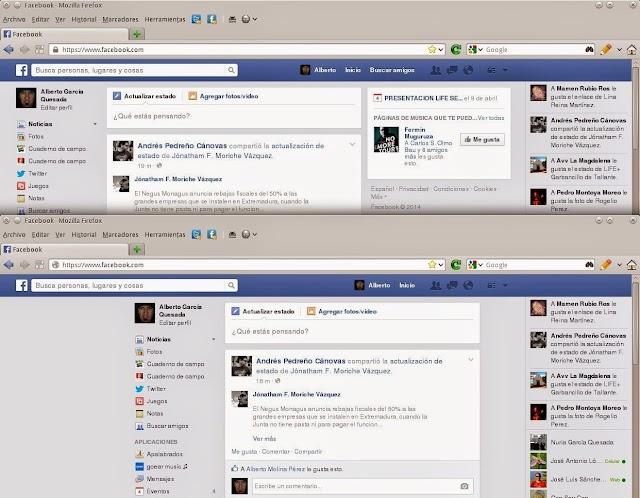 Eliminar columna Facebook