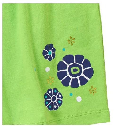 Đầm thun 100% cotton bé gái, hàng xuất xịn, made in Cambodia, mẫu xanh lá.