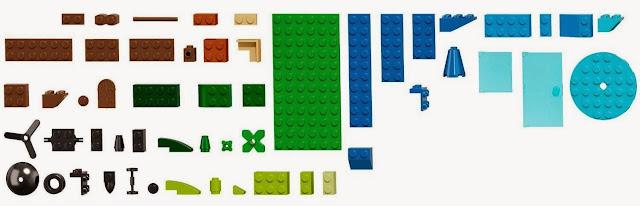 Lego 10692 Thùng gạch sáng tạo Creative Bricks còn có cả những chi tiết nhỏ, với hình dáng đặc biệt