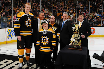 Bruins rookie defenseman Dougie Hamilton wins the 7th Player Award