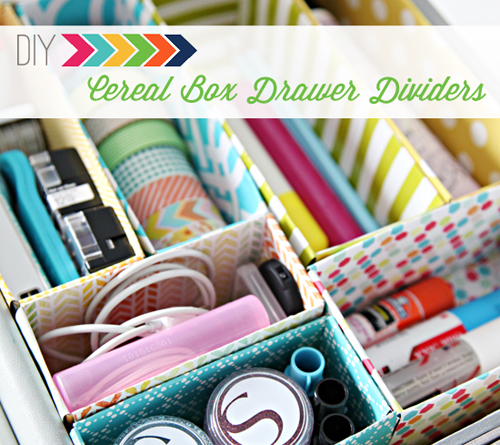 CerealBoxDrawerDividersHeader DIY Cereal Box Drawer Dividers | iheartorganizing DIY Organizing Tutorial