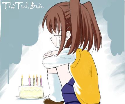 Những bài thơ tình buồn viết trong ngày sinh nhật