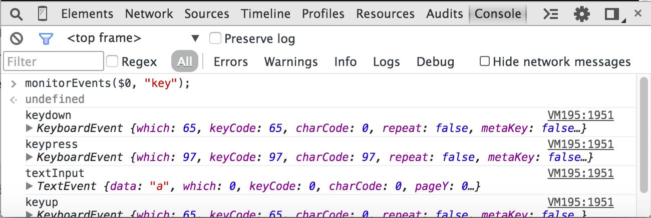 Monitor-keys