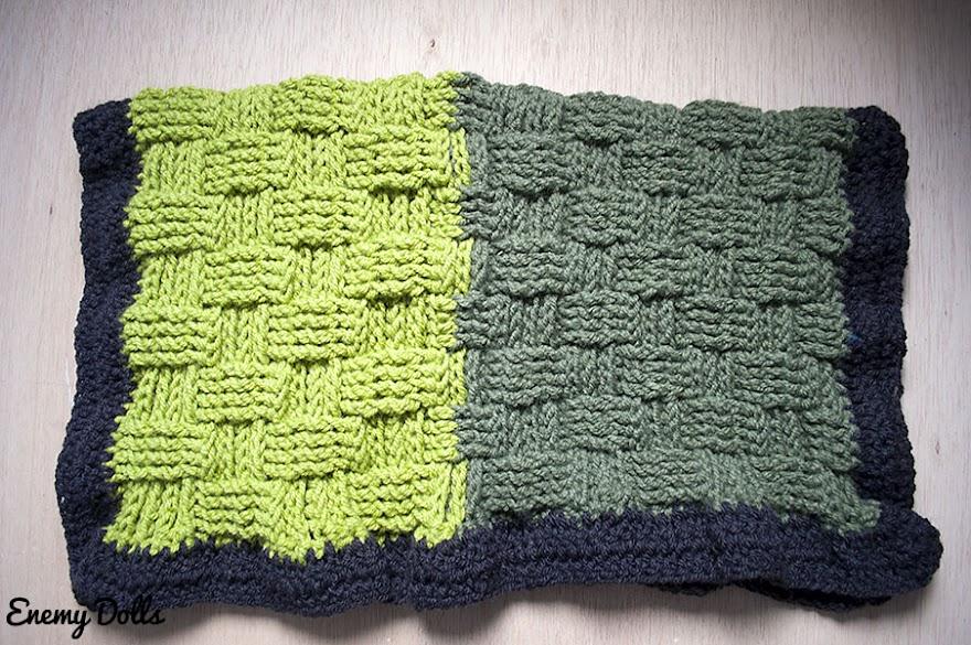 Fantástico Crochet Patrón De Rayas Manta De Bebé Ideas - Manta de ...